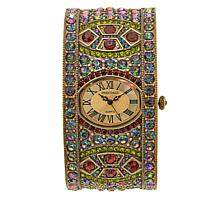 "Heidi Daus ""Divinely Deco"" Pavé Crystal Cuff Watch"