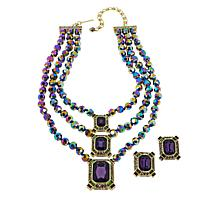"Heidi Daus ""Estate Splendor"" Beaded Necklace and Earring Set"