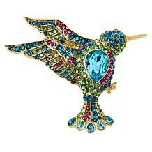 "Heidi Daus ""Hummingbird"" Crystal Brooch"