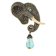 """Heidi Daus """"Large and In Charge"""" Pavé Crystal Elephant Pin"""