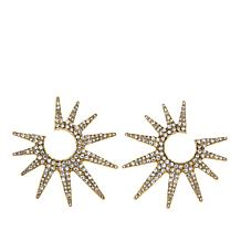 "Heidi Daus ""Twilight Sunburst"" Pavé Earrings"