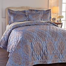 Highgate Manor Opulent 4pc Woven Jacquard Coverlet Set