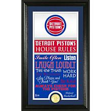 "Highland Mint ""House Rules"" Bronze Coin Photo Mint - Detroit Pistons"