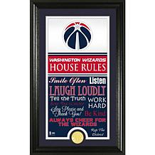 """Highland Mint """"House Rules"""" Bronze Coin Photo Mint- Washington Wizards"""