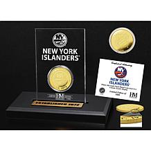 Highland Mint New York Islanders Gold Coin Etched Acrylic