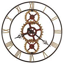 "Howard Miller ""Hanes"" Industrial Gear-Look Wall Clock"