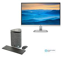 "HP Pavilion Wave Intel Core i3 Desktop w/27"" Monitor & Amazon Alexa"