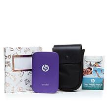 HP Sprocket Portable Photo Printer, Paper, Case & Album