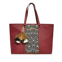 Iman Gc Chevron Handbag