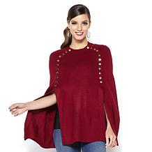 Iman Gc Knit Draped Poncho Dpblsh M/L
