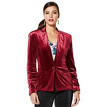 IMAN Global Chic Dressed & Ready Signature Velvet Blazer