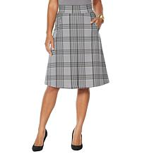 IMAN Global Chic Inverted Pleat A-Line Skirt