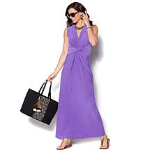 b9c9194907c IMAN Global Chic Luxury Resort Knockout Maxi Dress and Necklace