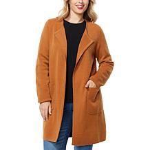 IMAN Open Front Sweater Coat