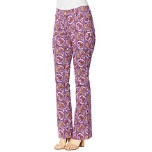IMAN Global Chic Paisley-Print Mid-Rise Flare Jean