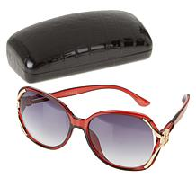 IMAN Global Chic Vented Oval Sunglasses with Case