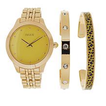 IMAN Global Luxury Resort Watch and 2-piece Cuff Set