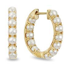 Imperial Pearls 14K Cultured Seed Pearl Inside-Outside Hoop Earrings