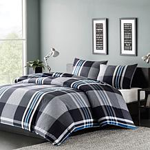 INK+IVY Nathan Cotton Duvet Cover Mini Set - Grey