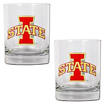 Iowa State Cyclones 2pc Rocks Glass Set