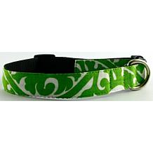 Isabella Cane Buddha Cotton Dog Collar - Green