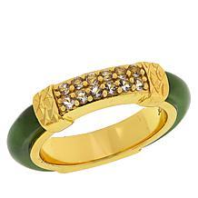 Jade of Yesteryear Jade and Gemstone Band Ring
