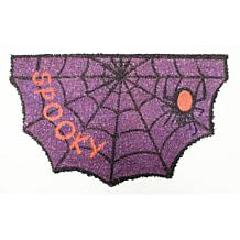 J&M Halloween Spooky Spider Die-Cut Doormat