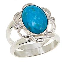 Jay King Blue Basin Kingman Turquoise Sterling Silver Ring