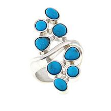 Jay King Gallery Collection Red Skin Turquoise Cluster Ring