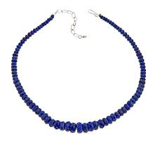 "Jay King Gemstone Faceted Bead 18"" Sterling Silver Necklace"
