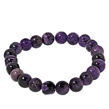 Jay King Sterling Silver Charoite Nugget Stretch Bracelet