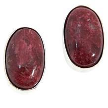 Jay King Sterling Silver Colored Gemstone Oval Stud Earrings