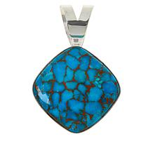 Jay King Sterling Silver Cushion-Cut Gemstone Pendant
