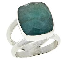 Jay King Sterling Silver Faceted Ethiopian Emerald Ring