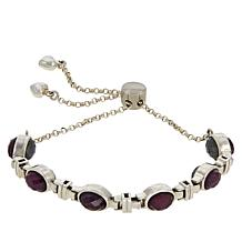 Jay King Sterling Silver Gemstone Station Reversible Bracelet