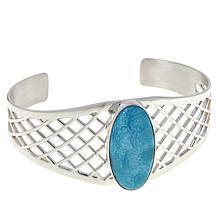 Jay King Sterling Silver Larimar Cuff Bracelet