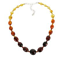 Jay King Sterling Silver Ombré Amber Graduating Bead Necklace
