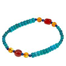 Jay King Turquoise Multigemstone Stretch Bracelet