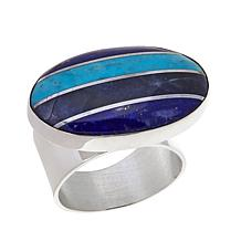 Jay King Turquoise, Sodalite and Lapis Doublet Ring