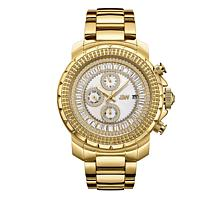 "JBW Men's ""Titus"" 12-Diamond Goldtone Bracelet Watch"