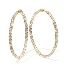 "Joan Boyce ""Happening Hoops"" Inside/Outside Hoop Earrings"