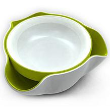 Joseph® Joseph Double-Dish Snack Bowl - White and Green