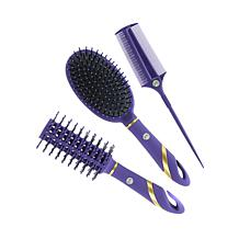 JOY 3-piece Deluxe Comb and Brush Styling Set