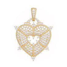 Judith Ripka Goldtone Sterling Silver Diamonique® Heart Enhancer