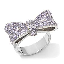 King Baby Jewelry 1.56ctw Pavé CZ Baby Bow Ring