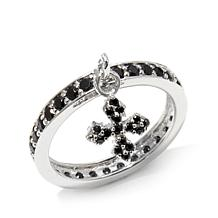 King Baby Jewelry .81ctw CZ Cross Charm Ring