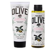 Korres Olive Oil & Golden Apple Shower Gel and Body Cream