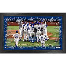 "LA Dodgers 2020 World Series Champions ""Celebration"" Signature Field"