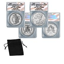 Last Year of Design 1921 Morgan Silver Dollar and 2021 Silver Eagle