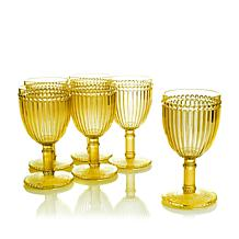 Le Cadeaux Milano Set of 6 Plastic Wine Glasses